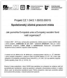 Název subjektu (vyhlašovatele): Ministerstvo práce a sociáln